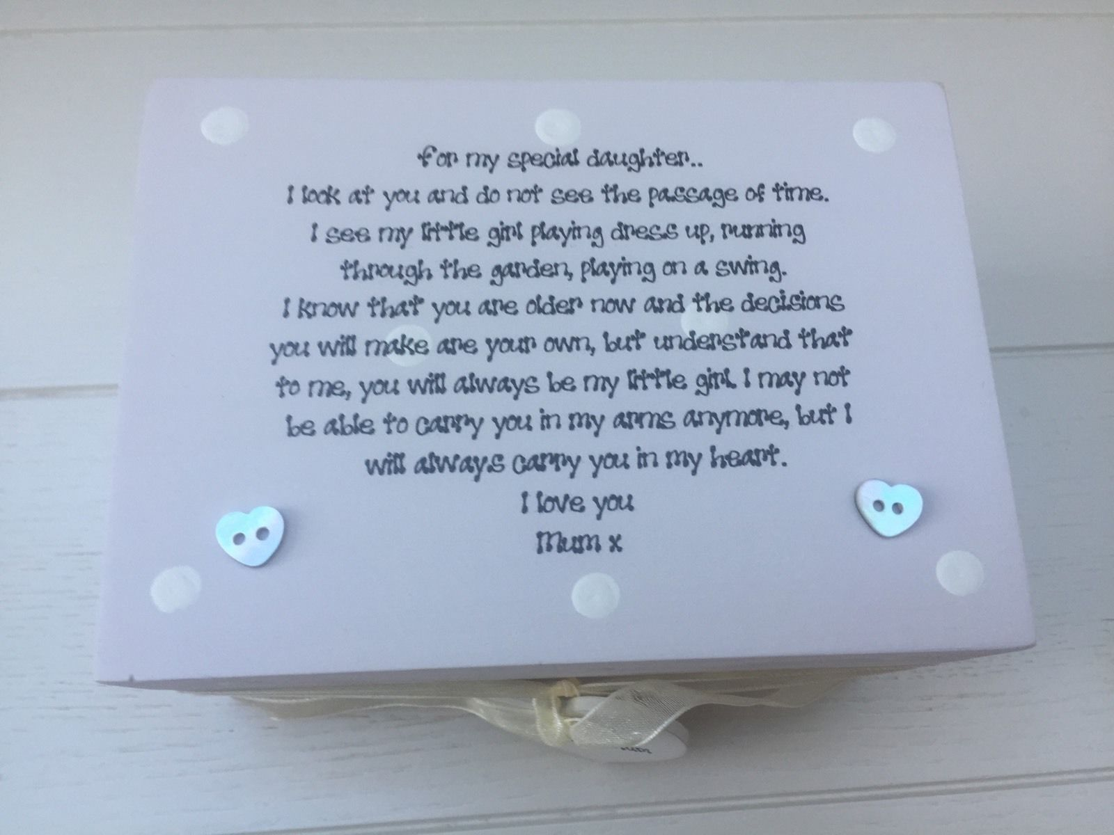 Shabby Personalised Chic Special Daughter Gift From Mum Birthday Present Mom